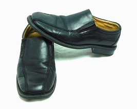 Men's Bass Burton Black Leather Slip-on Loafer Size 9.5M   - $29.56