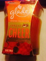 Glade Candle NEW Winter Collection Amber Bergamot Spread Cheer Scented v... - $17.00
