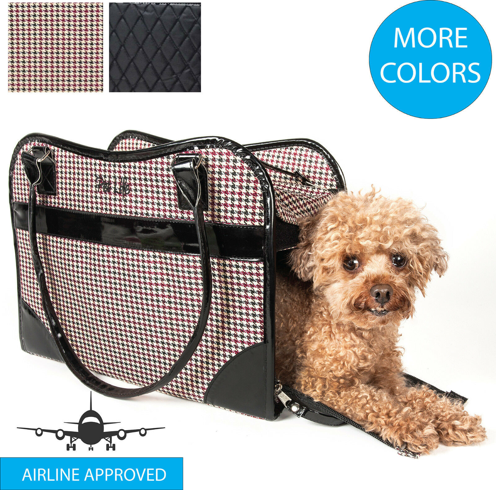 Primary image for Exquisite Designer Fashion Travel Pet Dog or Cat Carrier Tote Bag Purse
