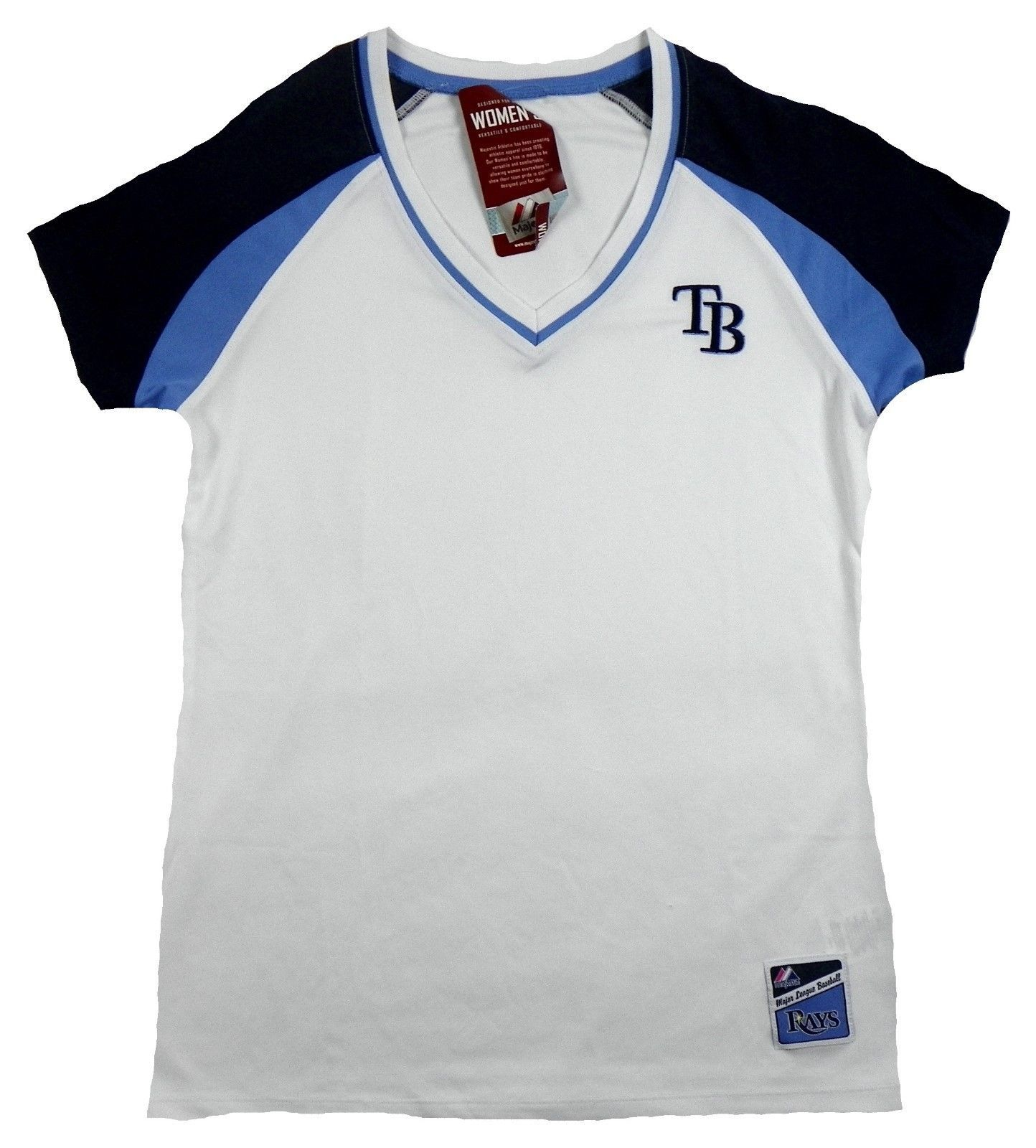 Women's Tampa Bay Rays Shirt MLB Baseball The Emerald Jersey Tee Pullover NEW