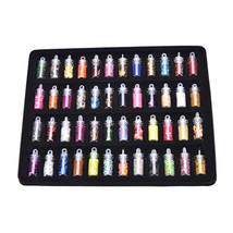 48 Colors New Glass Bottled 3D Nail Art Decoration Mini Bottles TR - $14.10