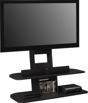Tv Stands For Flat Screens with Mount Up to 65 Inch Black Entertainment ... - $161.16