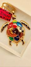 Betsy Johnson Multi Colored Enamel Turtle Pendant - $19.00