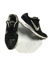 Black White Silver Nike Track Star 3 Running Shoes 398554-010 ladies siz... - $24.19