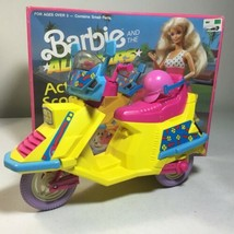 Vintage Barbie & The All Stars Action Scooter 1989 Mattel ARCO Toys w/ B... - $26.72