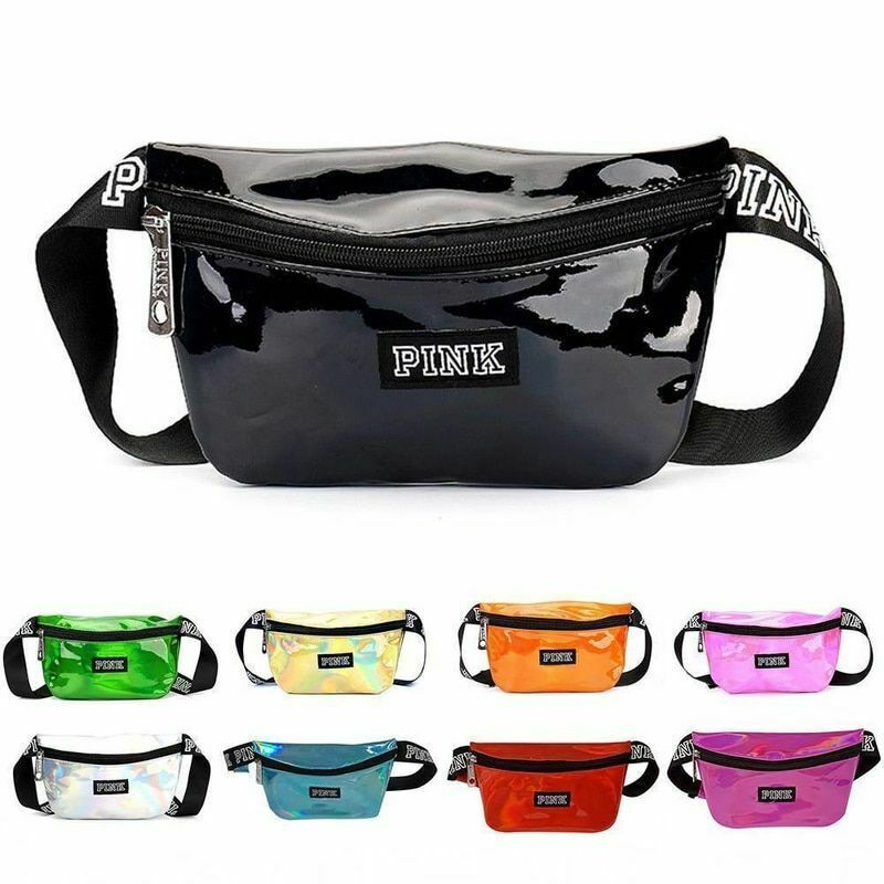 Primary image for Holographic Fanny Pack Belt Bags Reflective Waist Bag Purse Phone Pouch Travels