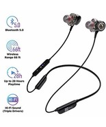Bluetooth 5.0 Wireless Headphones - 6D Sound Effect - Up to 28 Hours Per... - $50.78