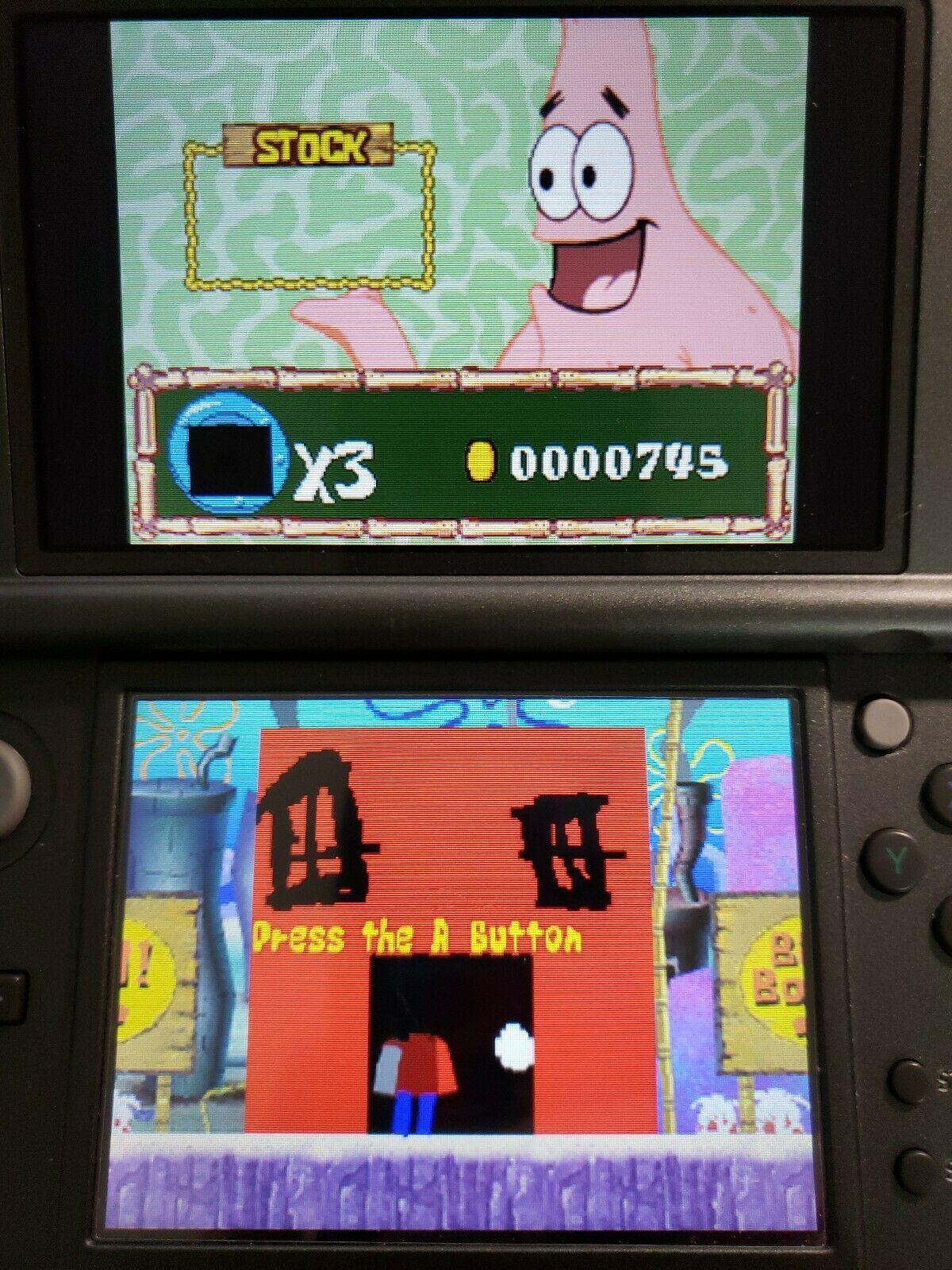 Drawn to Life SpongeBob SquarePants Edition 2008 Nintendo DS CIB Complete
