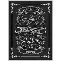 Vintage Aged to Perfection 60th Birthday Personalized Chalkboard Sign Poster - W - $22.28