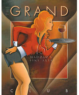 The Grand Club by Michael L Kungl Canvas Giclee Bar Art - $197.01