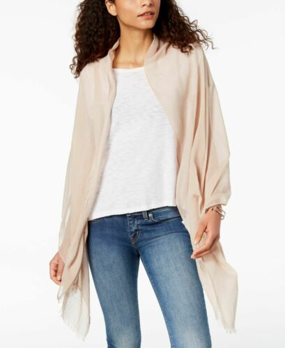 I.n.c. Solid Cotton Wrap (Pastel Brown, One Size)