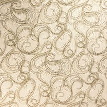Swirls Waves Wind Fabric Cape Cod in Tan by Blue Meadow Designs for RJR ... - $4.50