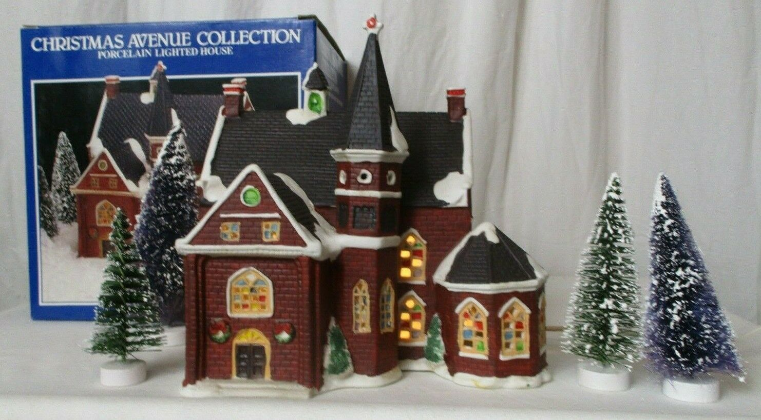 Primary image for Christmas Avenue Collection 1993 Church Ruey Perng Design w/ trees
