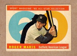 1960 Topps #565 Roger Maris Sport Magazine All Star GOOD-VG condition - $39.95