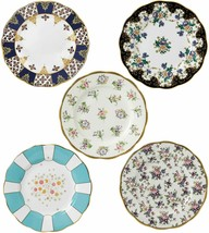 "Royal Albert 100 Years 1900-1940 Plate Set 8"" Multicolor 5 Piece #400175... - $207.90"