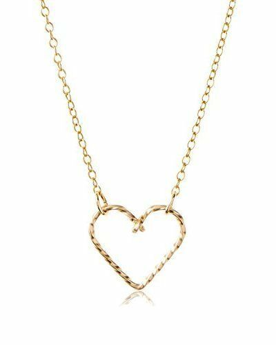 """By Philippe 14KT Gold Filled Sterling Silver 925 16"""" Twine Love Heart Necklace"""