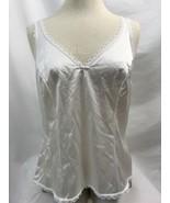 Warner's Perfekt Maß 55200 Weiß Schleife Unterhemd, Damen Größe 36 - $9.97