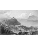 CANADA Georgeville Eastern Townships - 175 Years Old Print by BARTLETT - $14.92