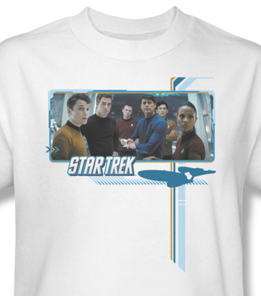 Star trek sci fi enterprise spock for sale online white graphic tee cbs454 at