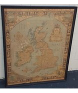 The Modern Pilgrim's Map of The British Isles - National Geographic 1937... - $108.89