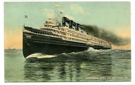 Steamer City of Detroit III Great Lakes 1910c postcard - $5.89