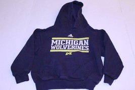 Youth Michigan Wolverines M (5/6) Hoodie Hooded Sweatshirt (Navy Blue) Adidas - $11.29