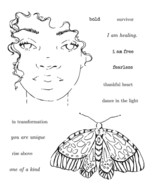 Danielle Mack Cling Stamps-Rise Above - $25.25
