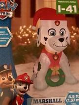 Paw Patrol Christmas Airblown Inflatable Marshall Christmas Wreath NEW - $49.99