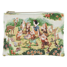 Disney store Snow White and seven dwarfs flat pouch case FOLK WOOD LAND - $51.48