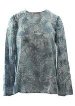 NWT $275 TORY BURCH Texture Tunic, Baltic Sea DreamSz 4 - $109.65