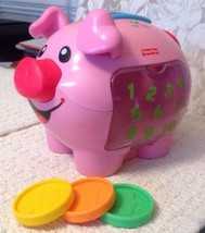 Fisher Price Laugh and Learn: Learning Piggy Bank - Comes with 3 Coins, ... - $11.40