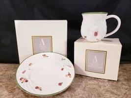 Avon Fine Collectibles Bunny Matching Mug Dessert Plate Earthenware 1994 - $29.08