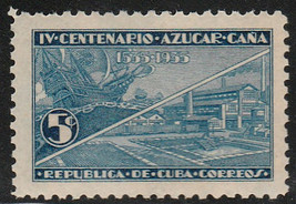 1937 Cuba Stamps Sc 339 Modern Sugar Mill MNH - $1.99