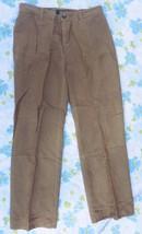 Used Ralph Lauren Silk & Linen Tan Women's Dress Pants 2P 2 Petite - $14.95