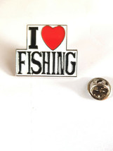 i heart fishing tie pin, Lapel Pin Badge, in gift box silver plated