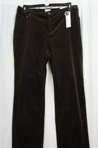 Charter Club Corduroy Pants Woman Sz 24W Rich Truffle Brown Tummy Slimmi... - $29.62