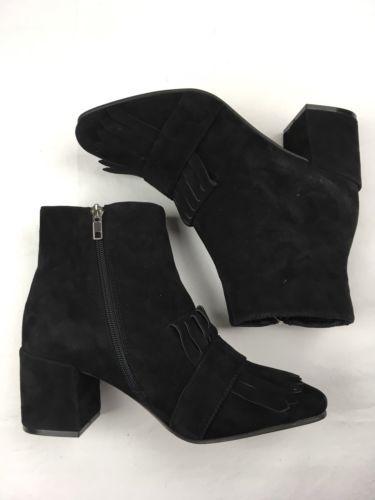 562f074eea8 WOMENS STEVEN BY STEVE MADDEN Boot Shooter Kiltie Black Leather Ankle Bootie  8.5