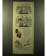 1950 Zippo Cigarette Lighter Advertisement - Why Zip, Zip, Zip - $14.99
