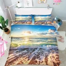 3D Sea Sunset 07 Bed Pillowcases Quilt Duvet Cover Set Single Queen King Size AU - $90.04+