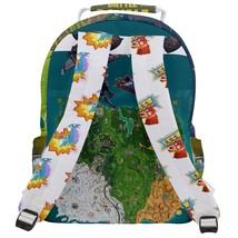Rounded Multi Pocket Backpack kid school bag gamer gear geek nerd gaming shooter - $53.00