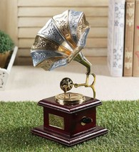Brass Horn And Gramophone Small Best for Corporate / Loved One Gifting  - $49.00