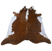 Hereford Cowhide Rug Size: 8 1/2' X 7 1/3' Hereford Dark Brown Cowhide C-053 - $197.01