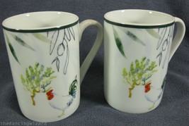 PROVENCE ROOSTER Coffee Mugs Lot of 2 Tabletops Unlimited Gallery - $24.95