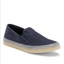 Sperry Top Sider Slip On Denim Sneakers Women's 10 Blue Jean Denim Canvas - $40.30 CAD