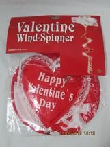 """2006 Beistle (70695) """"Happy Valentine's Day"""" Wind-Spinner, Nylon 42"""" (NEW) - $1.98"""