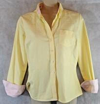 Tommy Hilfiger Size XS Yellow Long Sleeve Women Button Down Shirt  Turn Cuffs - $22.72