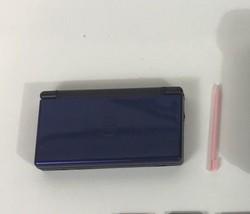 Nintendo DS Lite - Cobalt Blue -Works W/ Broken Hinge - $19.34