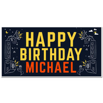 Personalized Music Birthday Banner - $22.50