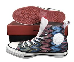 Converse by Missoni Chuck Taylor All Star High Top Glitter RED/BLUE 151254C - $100.00