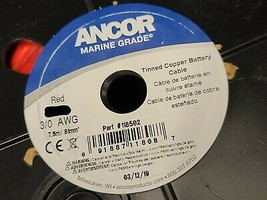 Ancor #3/0awg #000awg Marine Grade Tinned Copper Boat Cable BC-5W2 Red /1ft - $14.84